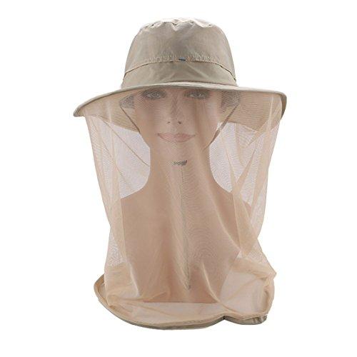 Oksakady Anti Mosquito Head Net Hat Outdoor UPF 50+ Cappello Protezione Solare con Maschera a Collo in Mesh
