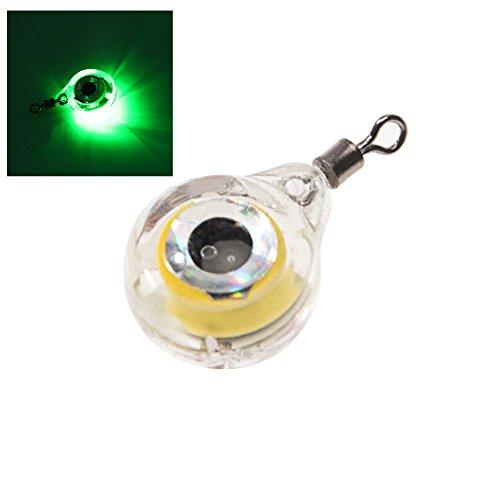 qingsb 1 Pieza 5 Colores bajo el Agua señuelos de Calamar Cebo Peces atracción lámpara LED Flash luz, Verde