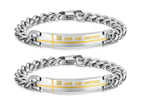 gnzoe-2pcs-lgbt-homosexual-men-set-bracelet-bangle-stainless-steel-love-one-another-cross-with-engra