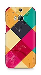 Amez designer printed 3d premium high quality back case cover for HTC One M8 (Hinh Nen Pattern)