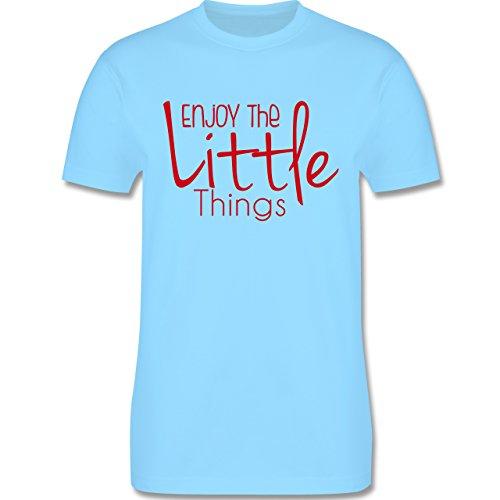Statement Shirts - Enjoy The Little Things - Herren Premium T-Shirt Hellblau