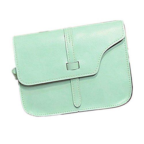 JERFER Frauen Mädchen Umhängetasche Faux Leder Umhängetasche Crossbody Tote Handtasche (Grün) (Tote Faux Leder Tasche Grün)
