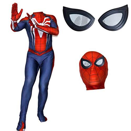 Invisible Mann Kostüm Halloween - K-Flame Erwachsene Spider-Man Rollenspiel Overall Halloween Cosplay Spiderman 3D Druck Kostüm Männer Frauen Film Thema Party Kostüm Strumpfhosen,Separation1,M