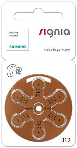 60 Stück (10 Blister) Siemens Signia Typ 312 Hörgerätebatterie Zinc Air P312 PR41 ZL3 mit 2 Stück LUXTOR® Reinigungstücher für Hörgeräte und Otoplastiken