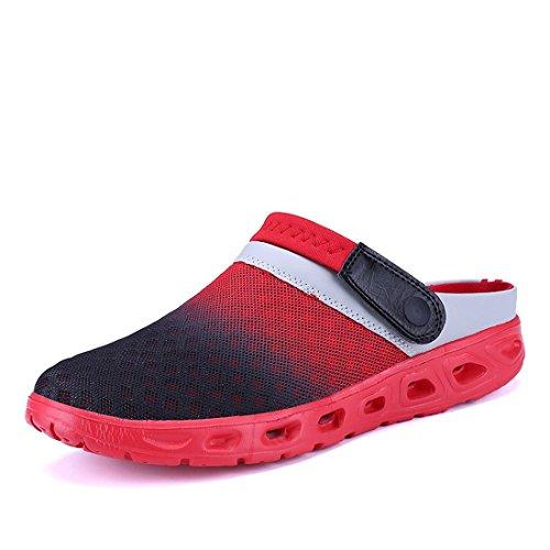Yooeen Zuecos de Verano Antideslizante Sandalias de Playa Respirable de La Red del Acoplamiento Piscina Zapatillas Chanclas de Playa de Verano Para Unisex Mujer Hombre