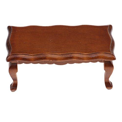 MagiDeal Miniatur Wohnzimmer / Schlafzimmer Möbel aus Holz Für 1/12 Puppenhaus Zubehör Dekoration - Beistelltisch - Braun - Schlafzimmer-möbel-zubehör