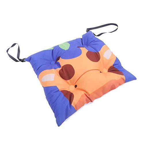 PETSOLA Weiche Bequeme Sitzkissen Kissen Mit Krawatten Für Kinder Abendessen Stühle Cartoon Muster 30x30cm -
