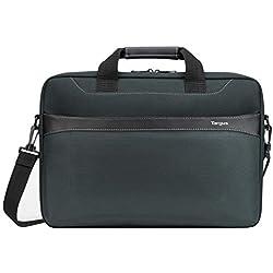 """Targus sacoche Geolite Essential, Sac pour ordinateur portable jusqu'à 17.3"""" pouces avec compartiment dédié, sac à bandoulière au design fin et léger - Océan, TSS99101GL"""
