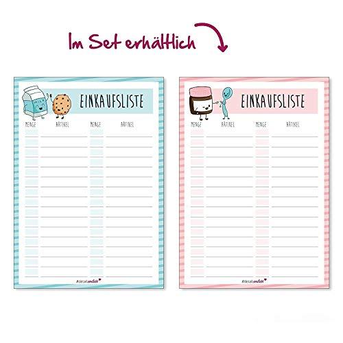 ufsliste I DIN A6 50 Blatt I Einkaufsblöcke Set Vordruck für die Küche Handtasche Auto I Organizer aus Papier zum Abreißen I dv_142 ()