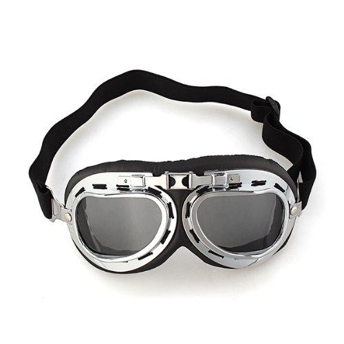 1x Motorradbrille Motorrad Sonnenbrille Schutzbrille Fliegerbrille Dunkelbraun