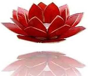 Capiz Teelicht schwarz Chakra Lotus Licht