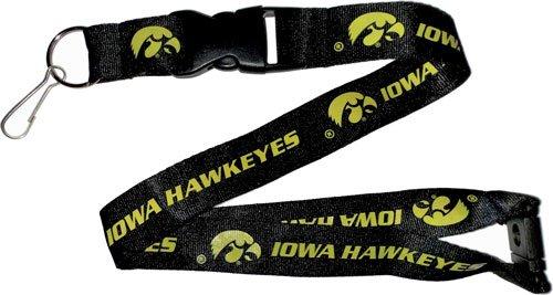 aminco NCAA Iowa Hawkeyes Team Farbe Lanyard, 56cm, schwarz (Iowa Hawkeyes Baseball)
