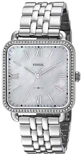 Fossil Damen Quarz Uhr mit Edelstahl Armband ES4268