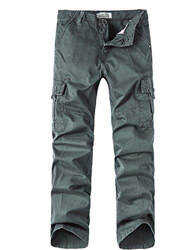 Menschwear Herren Cargo Hosen Freizeit Multi-Taschen Military pantaloni Ripstop Cargo da uomo (36) (Polo Herren Jean Slim Assn Us)