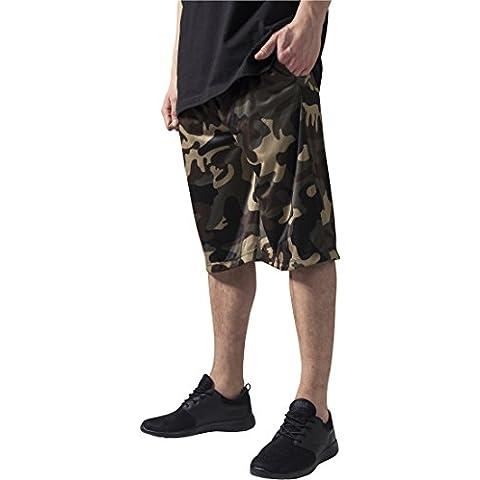 Urban Classics TB648 Camo Bball Mesh Shorts Pantaloncino uomo WOOD CAMO M