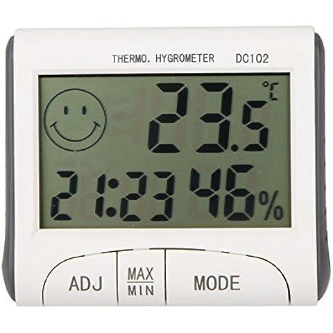 Zophor (TM) Electronic 2015nuevo LCD digital de temperatura Tester Termómetro inalámbrico higrómetro medidor de temperatura y humedad reloj