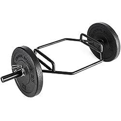 Capital Sports Beastbar Hex-Bar Haltère Barre à Deadlift Triceps chromé (300 kg, haltère Hexagonal, poignées rainurées et chromées, 2 Positions de Prises différentes)