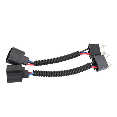TOMALL H4 9003 HB2 Male to H13 9008 Female 12cm(5inch) Retrofit Wiring Harness for LED Headlight Conversion Kit Connector Socket Adapter - Conversion Kit Led 9003