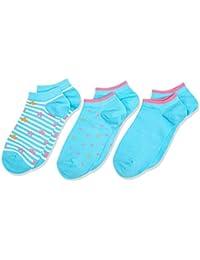 Nur Die Kinder Sneaker Socken 3er Pack, Protège-Bas et Socquettes Fille