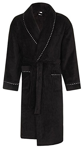 Mens Luxury Soft Coral Fleece Dressing Gown Test