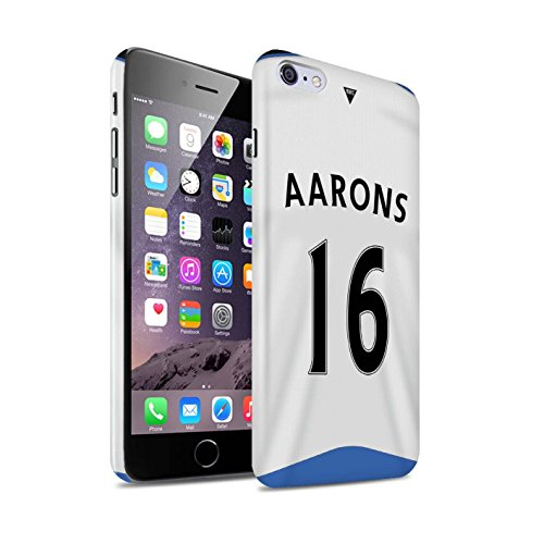Offiziell Newcastle United FC Hülle / Glanz Snap-On Case für Apple iPhone 6+/Plus 5.5 / Pack 29pcs Muster / NUFC Trikot Home 15/16 Kollektion Aarons