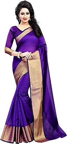 Nishchay Enterprise Cotton Saree With Blouse Piece (Today Offer_Blue_Free Size)