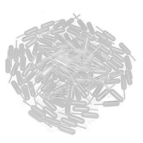 Yalulu 100 Stück 4ml Klar Einweg Kunststoff Pipette Dropper Messpipette Für Silikonform UV Epoxidharz Handwerk Schmuckherstellung - 4 Ml Eye