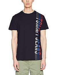 Tommy_Jeans TJM Vertical tee, Camiseta para Hombre