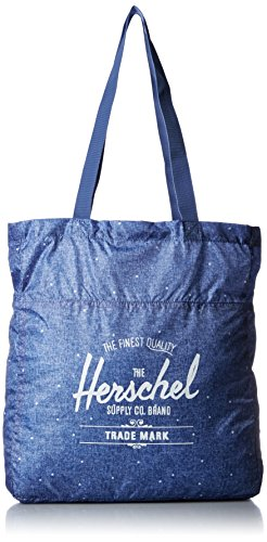 herschel-packable-travel-tote-limoges-crosshatch-white-polka-dot