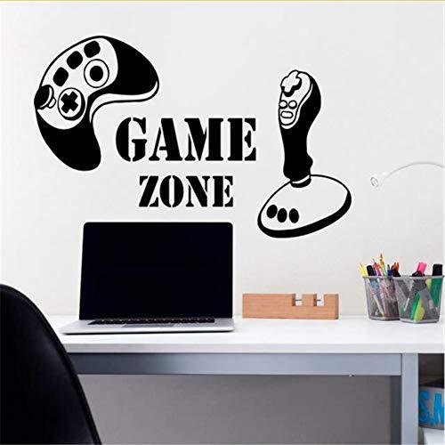 Cmdyz Spiel Zone Wandaufkleber Vinyl Aufkleber Game Controller Gamer Joystick Play Station Jungen Kindergarten Kinder Spielzimmer Wandtattoos Größe 58 * 38 Cm
