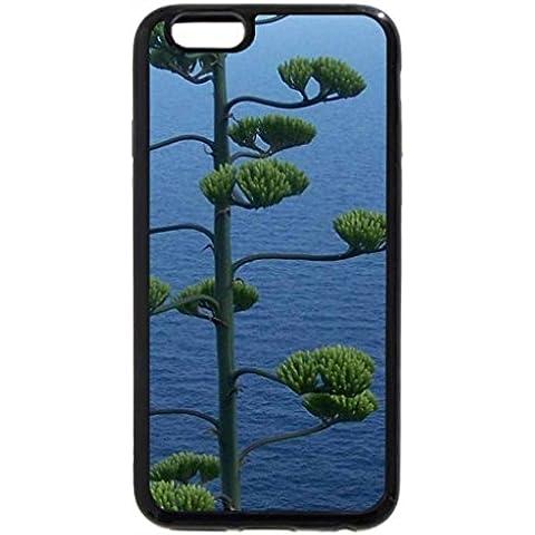 iPhone 6S Plus Funda, iPhone 6Plus, increíble Árbol overlooking Rocas y un barco en el mar