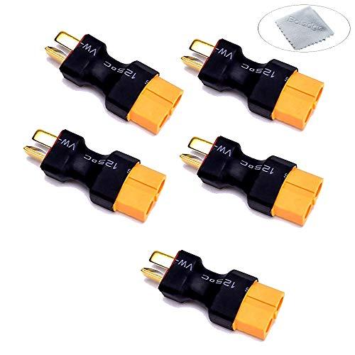 Boladge 5-Pack Deans T-Stecker Stecker auf XT60 Buchse Anschlussstecker für RC Auto Flugzeug Lipo Batterie ESC (Kein Draht)