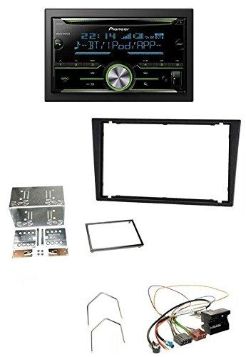 Pioneer FH-X730BT MP3 2DIN Bluetooth AUX CD USB Autoradio für Opel Corsa C Signum Vectra B ab 2005 charcoal (Doppel-passe Hinten)