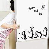 TAOtTAO Haben Sie einen schönen Tag niedlichen Pinguin Aufkleber Kühlschrank Küche Kühlschrank Wand Aufkleber