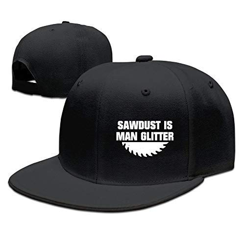 Dsarqwe Sawdust is Man Glitter Denim Hats Adjustable Baseball Cap Dad Hats
