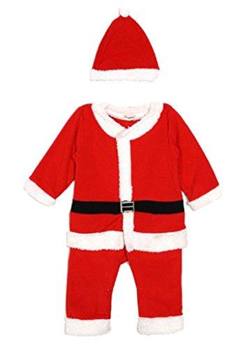 Internationale Kostüme (Weihnachten Baby Jungen Boy Weihnachtsmann Kleid Kostüme Anzug Weihnachtskleid Weihnachtsmann-Kostüm)