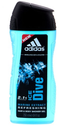 adidas Ice Dive 2in1 Hair & Body Shower Gel 250ml (F7)