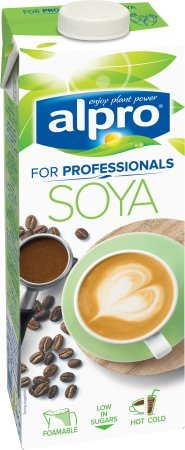 Alpro Soya Drink für Professionals - 1 l laktosefrei, vegan (perfekt zum Aufschäumen) (Gratis Kaffee Proben)