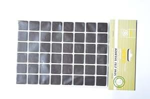 Patins feutre adhésifs carrés 96 pièces