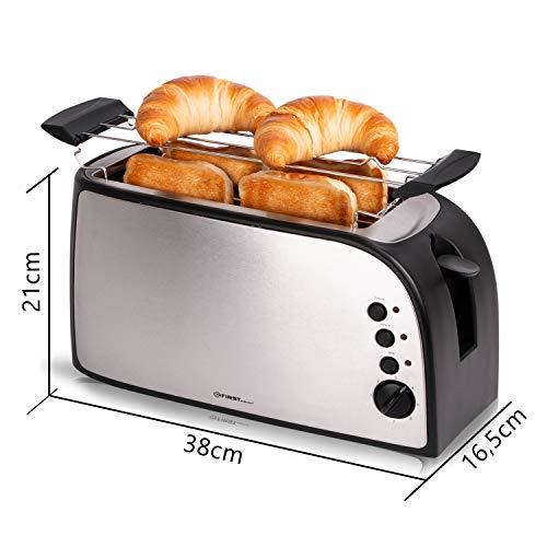 Edelstahl 4 Scheiben Toaster