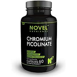 CHROMIUM PICOLINATE 250 mcg 60 Capsules Fat Burner