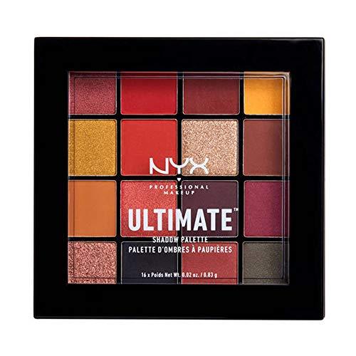 NYX Professional Makeup, Palette Ombretti Ultimate Shadow, Pigmenti pressati, 16 tonalità, Effetto opaco, Satinato, Metallico, Tonalità: Phoenix