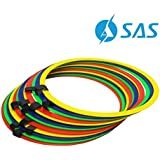 SAS SPORTS Plastic Agility Speed Ring Ladder, Set of 12 Rings, Multi-Color