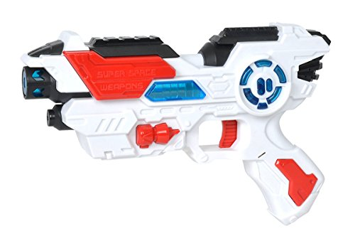 Simba 108042205-Planet Fighter Space Shooter Laser Pistola, 23cm