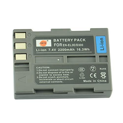 DSTE Ersatz Batterie Akku for Nikon EN-EL3E D30 D50 D70 D70S D80 D90 D100 D200 D300 D300S DSLR D700 Kamera