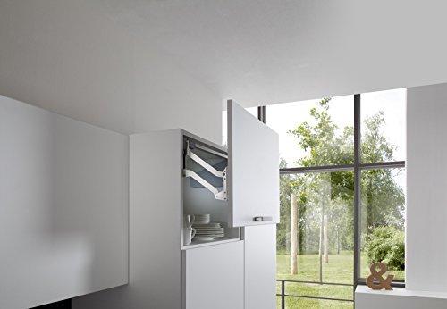 Frontliftbeschlag Küche Klappenbeschlag FREE UP für einteilige Klappen aus Holz | Liftbeschlag für Korpushöhe 430-600 mm | Klappengewicht: 5,0-9,7 kg | Möbelbeschläge von GedoTec®