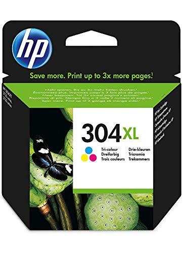 HP 304XL Farbe Original Druckerpatrone (mit hoher Reichweite für HP DeskJet 2630, 3720, 3720, 3720, 3730, 3735, 3750, 3760; HP ENVY 5020, 5030, 5032) -