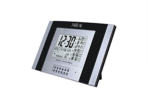 MIRAC Islamische Digitale automatische Azan Adhan Athan Alarm Wand- oder Tischuhr mit Qibla Richtung #0026