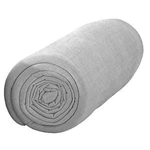 Drap housse 160x200 cm 100%coton 57 fils/m2 gamme today zinc