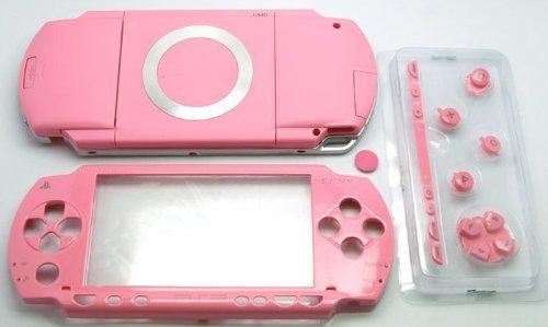 Ersatz Full Gehäuse Schale Schutzhülle mit Tasten Schrauben für PSP 1000PSP1000~ Pink Pink Full Housing
